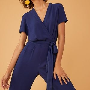 DVF Navy Purdy jumpsuit, NWT, size 8